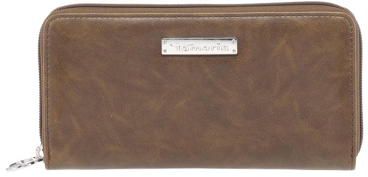 Tamaris Dámska peňaženka Maxim a Big Zip Around Wall et 7132182-305 Cognac