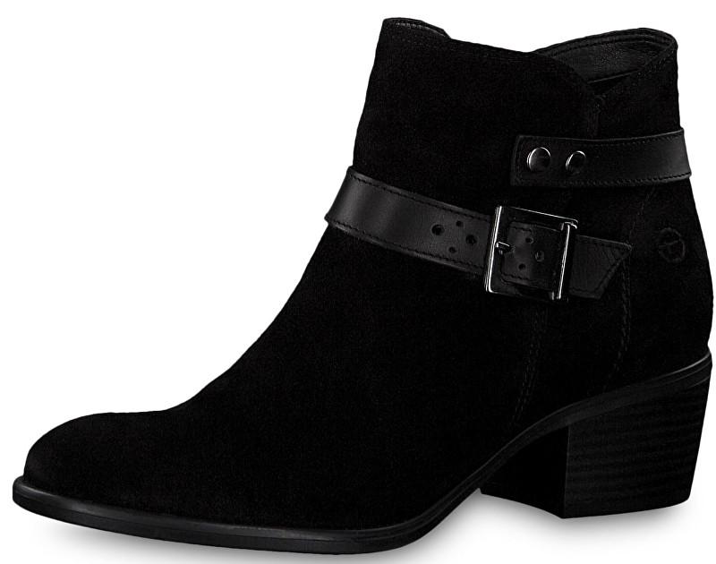 303c60251f10 Tamaris Dámske členkové topánky 1-1-25010-21-007 Black Uni 40. Značka   Tamaris