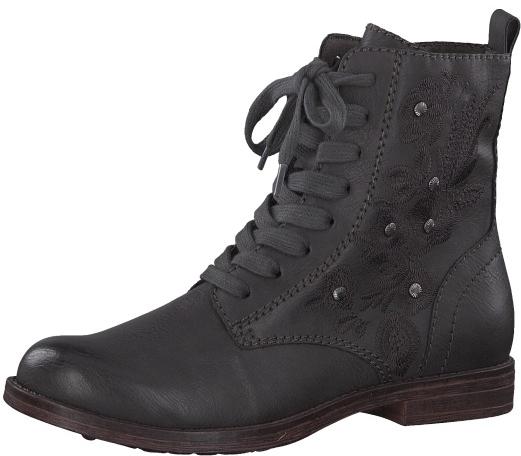 df726ad2e Tamaris Dámske členkové topánky 1-1-25114-21-214 Anthracite 41