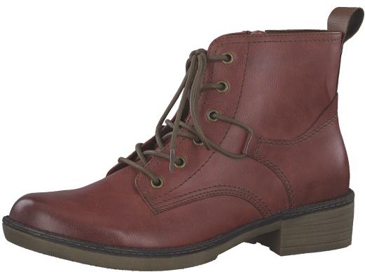 Tamaris Dámske členkové topánky 1-1-25116-21-536 Sangria 38