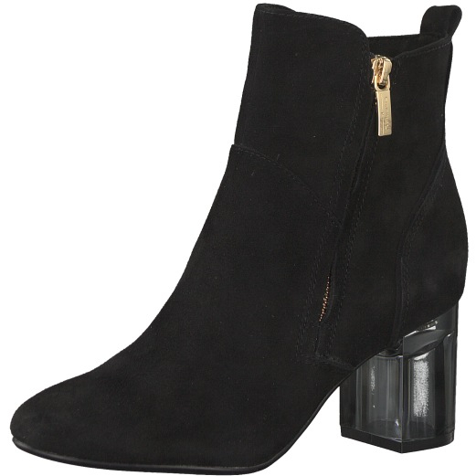 Tamaris Dámske členkové topánky 1-1-25301-21-001 Black 38