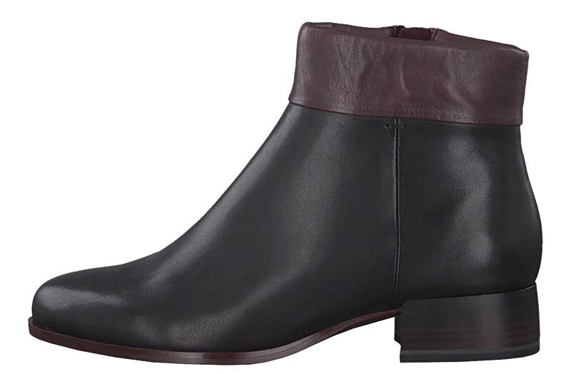 Tamaris Dámske členkové topánky 1-1-25355-23-068 Black / Bordeaux 36