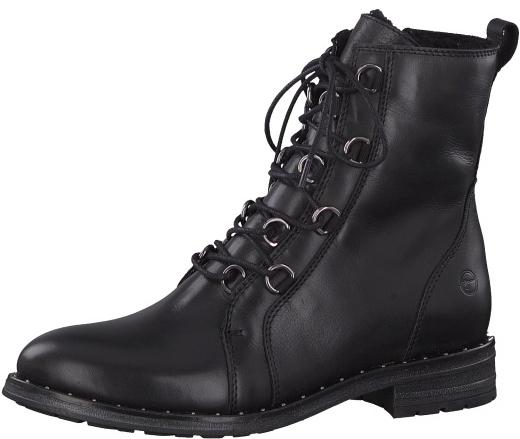 2cd321cbea25 Tamaris Dámske členkové topánky 1-1-26128-21-001 Black 41