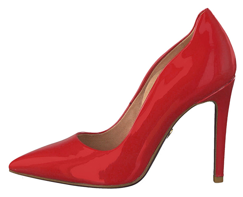 Tamaris Dámske lodičky 1-1-22400-22-524 Red Patent 39
