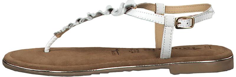 15cfa4e9e89ed Tamaris Dámske sandále 1-1-28143-22-100 White 38