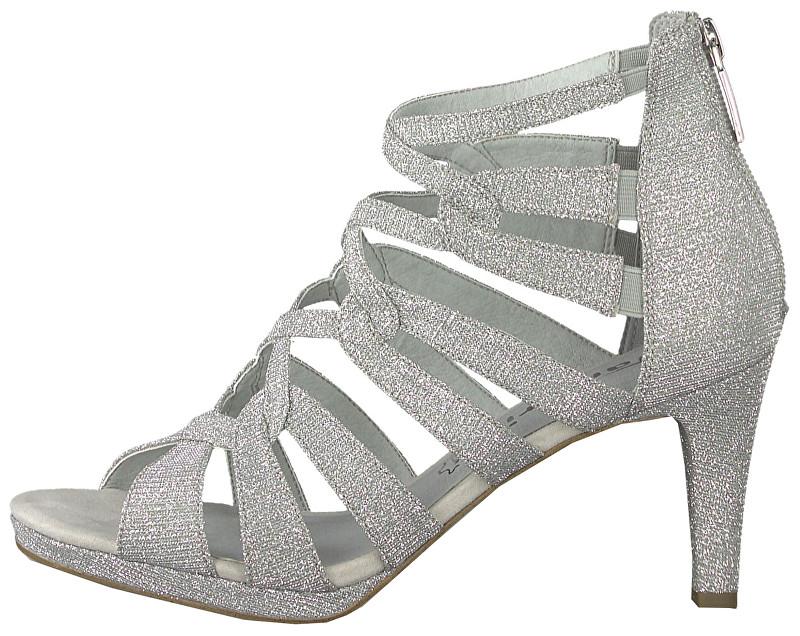 7dbdaece4d734 Tamaris Dámské sandále 1-1-28353-22-919 Silver Glam 38