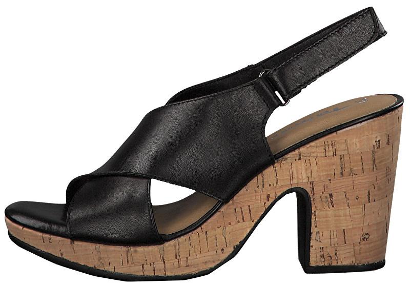 8eafaf72719e Tamaris Dámské sandále 1-1-28364-22-046 Black Cork 37