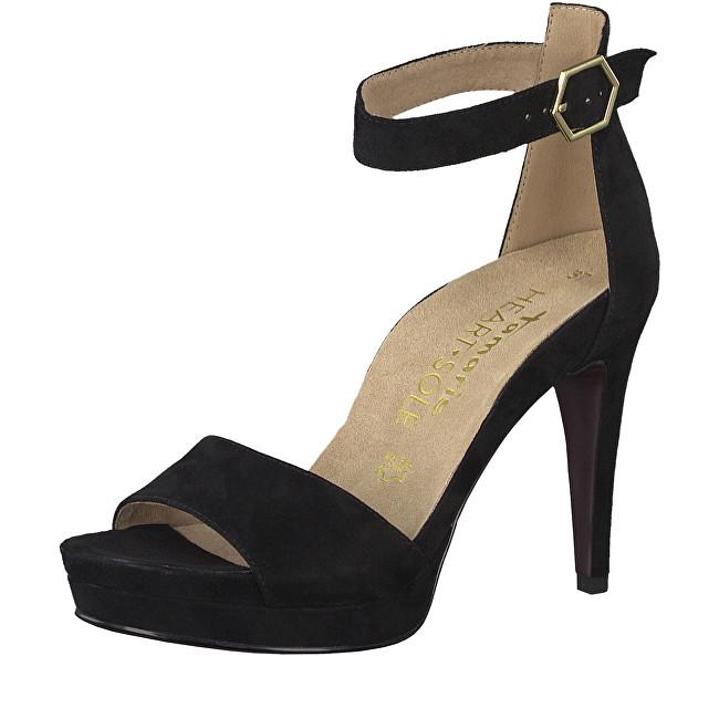 Tamaris Dámske sandále 1-1-28377-22-004 Black Suede 38