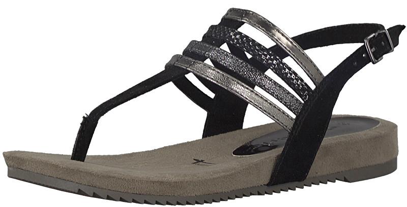 154745f23dd77 Tamaris Dámské sandále 1-1-28634-20-098 Black Comb 37