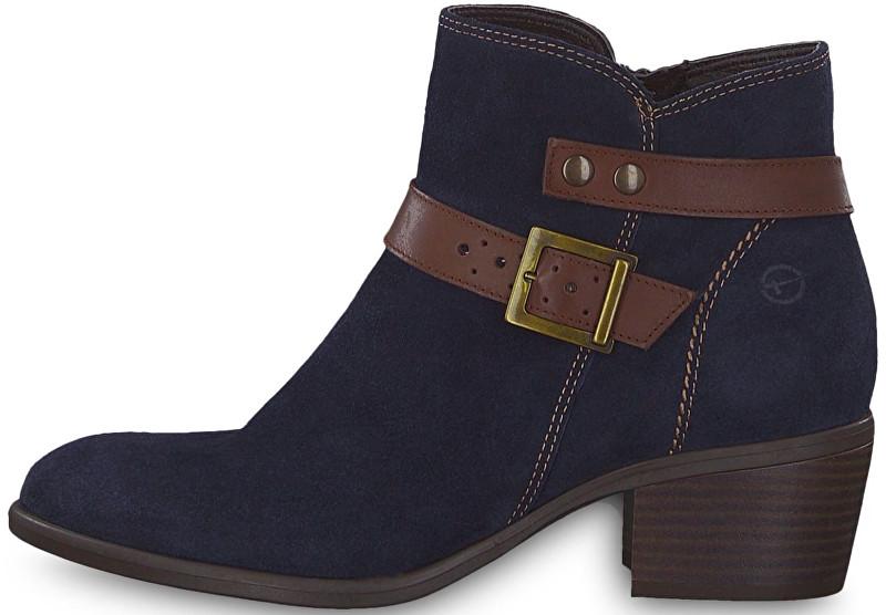 Tamaris Elegantní dámské kotníkové boty 1-1-25010-21-833 Navy  3c417f1f3a