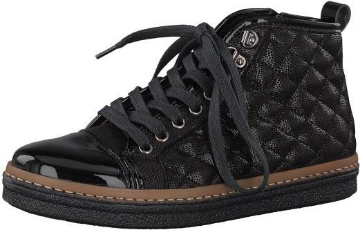 405f18049d Tamaris Elegantné dámske členkové topánky 1-1-25725-39-098 Black Comb