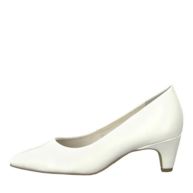 34d505fa06 Tamaris Elegantní dámské lodičky 1-1-22428-22-108 White Matt 41