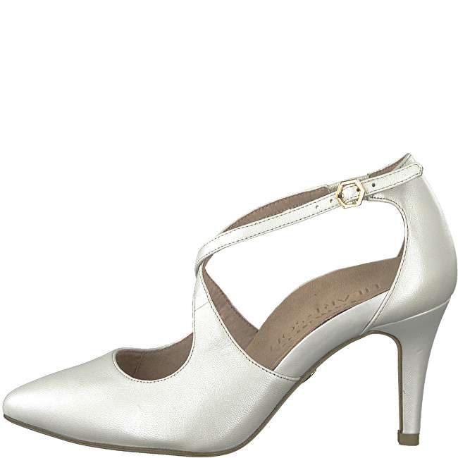 c5d58e2993ed4 Tamaris Elegantní dámské lodičky 1-1-24402-22-101 White Pearl 40