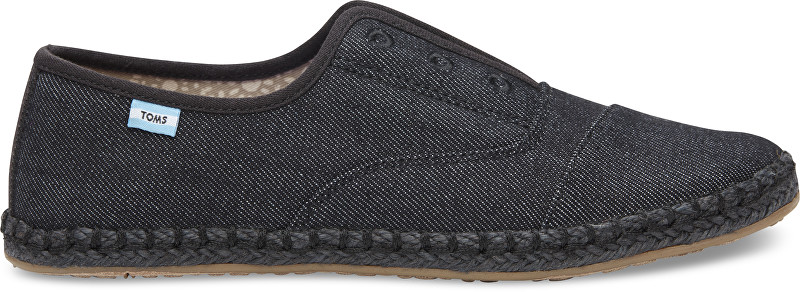 TOMS Dámske Slip-on Black on Black Palm era Slip-on 37