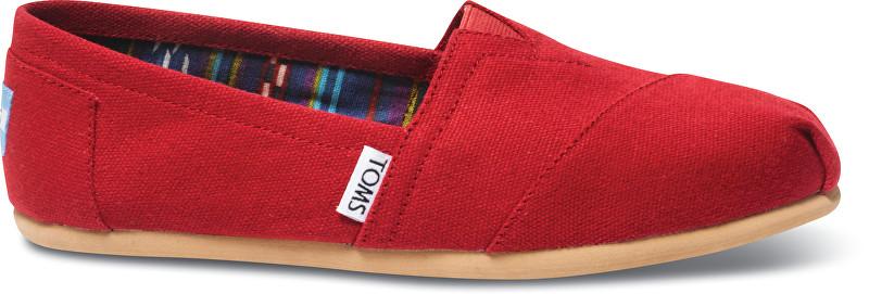 TOMS PantofiSlip-On Red Canvas Core Classics Alpargatas pentru femei 37