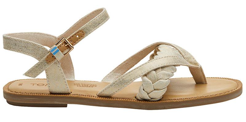 TOMS Dámske sandále Natural Shimmer Canvas Lexie 40