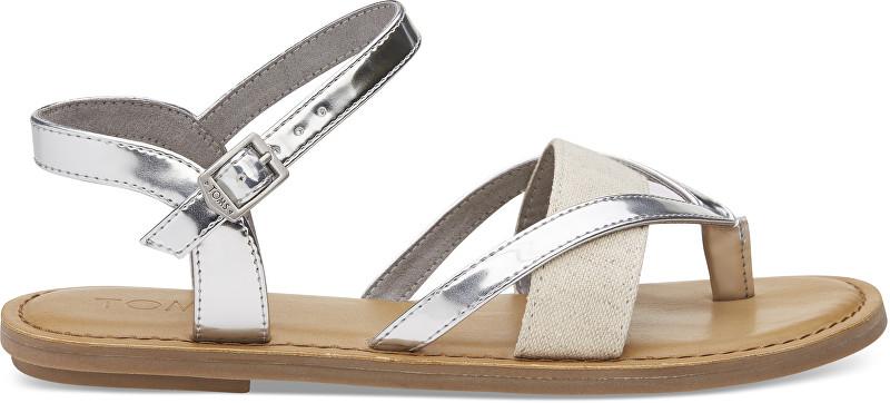 TOMS Dámské sandále Silver Specchio Hemp Lexie 36 2cd260ab41