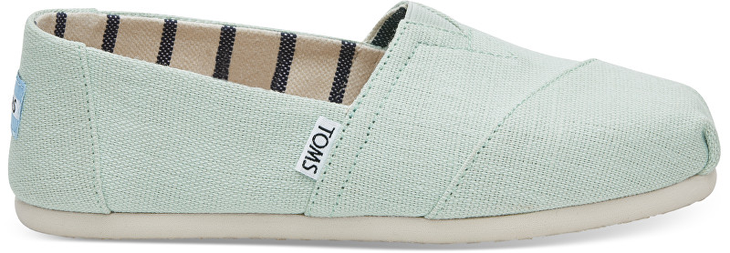 TOMS Dámske Slip-On Aqua Glass Heritage Canvas Alpargata 36,5