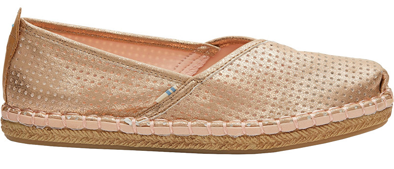 TOMS Femei espadrilky Champagne Shimmer Synthetic Petra 38