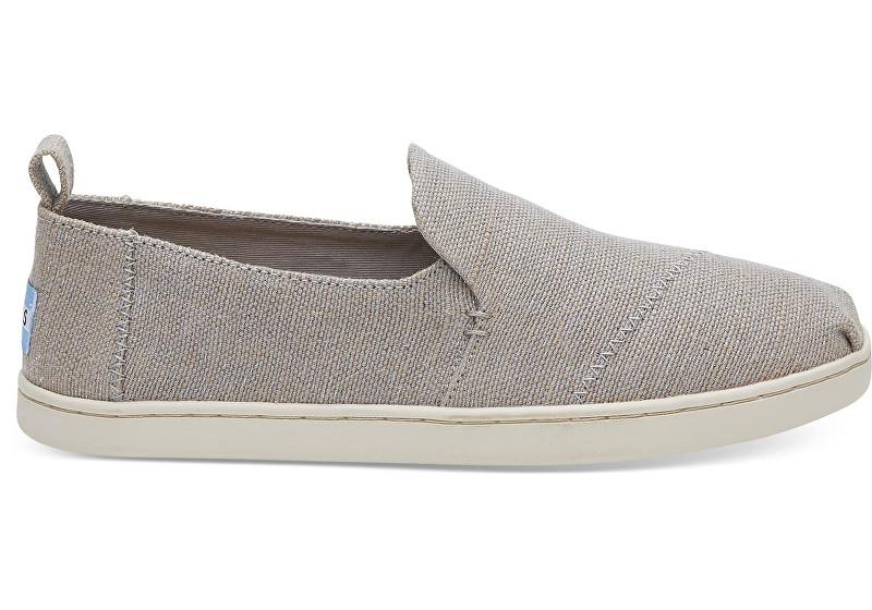 TOMS Pantofi slip-on Drizzle Grey Metallic Jute Deconstructed Alpargata pentru femei 37