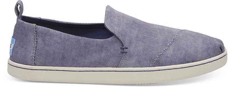 TOMS Pantofi slip-on State Blue Washed Twill Deconstructed Alpargata pentru femei 36