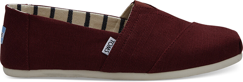 TOMS Pánske Slip-On Black Cherry Heritage Canvas Alpargata 41
