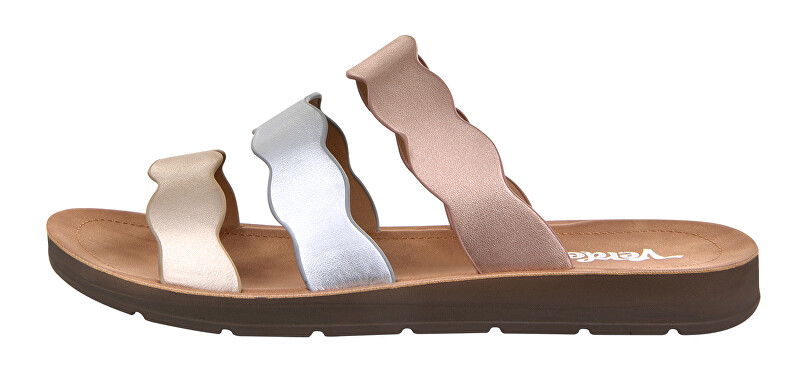 Verde Dámske papuče 28-2987 Gold / Silver / Rose Gold 36