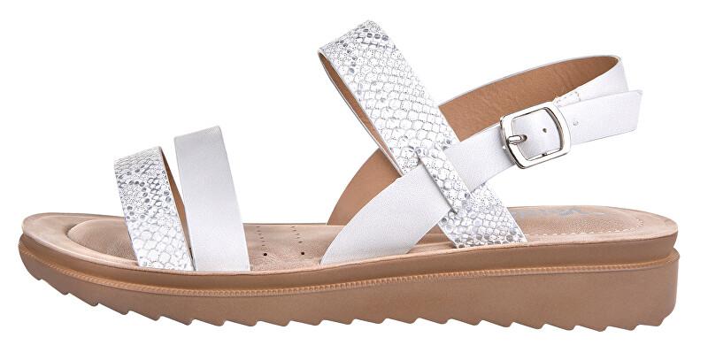 Verde Dámske sandále 28-3033 Silver 36