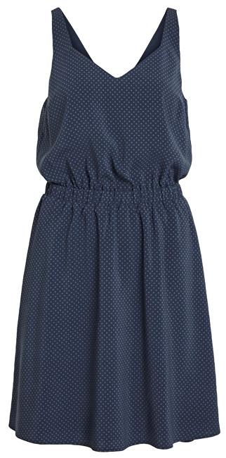 Vila Dámske šaty Vilaia S/L V-Neck Dress - Fav Lux Total Eclipse 42