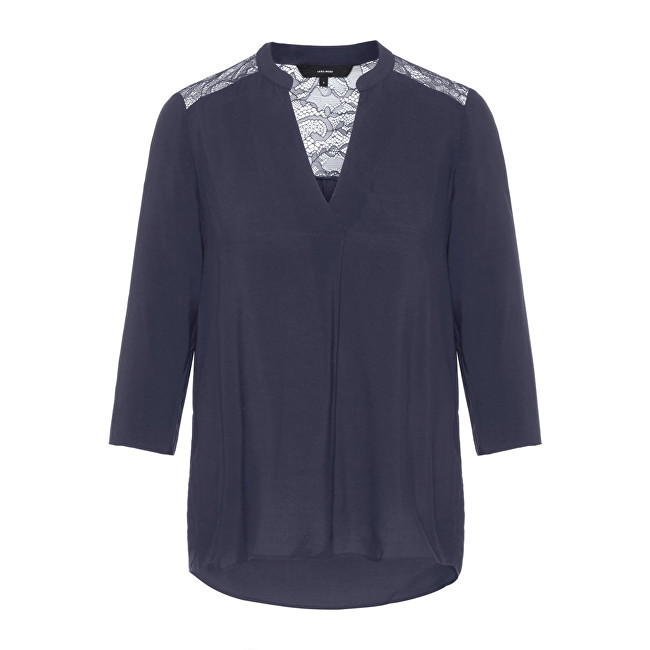Vero Moda Dámska blúzka Boca 3-4 Lace Blouse Color Night Sky XS