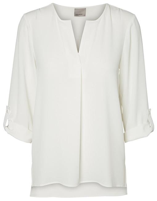 Vero Moda Bluză pentru femei VMSASHA 3/4 TOP A NOOS White ca zăpada M