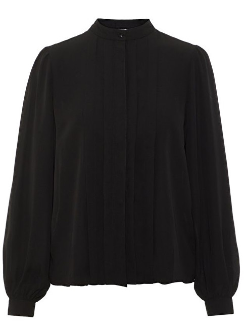 Vero Moda Dámská košile Grow Ls Pleat Shirt Wma Black XS