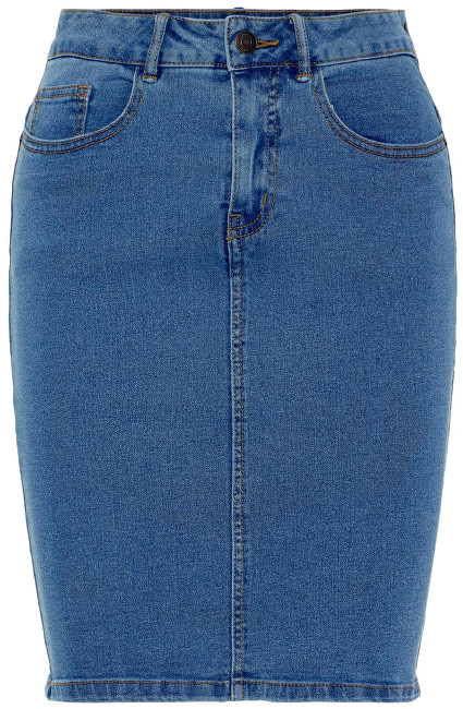 Vero Moda Dámska sukňa Hot Nine Hw DNM Pencil Skirt Mix Noos Medium Blue Denim XS