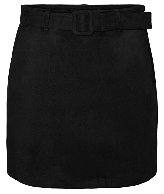 Vero Moda Dámska sukňa VMCHILI faux SUEDE HW SHORT SKIRT Black S