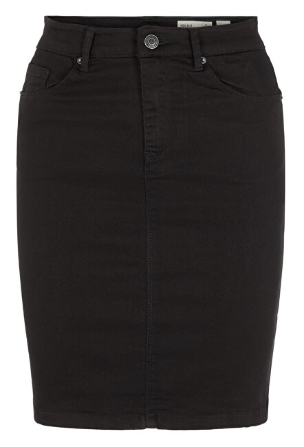 Vero Moda Dámská sukně VMHOT SOPHIA HR PENCIL SLIT SKIRT COLOR Black XL