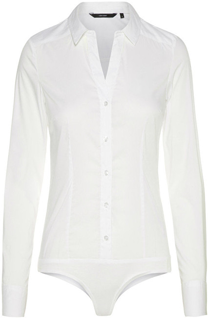 Vero Moda Body pentru femei Lady L/S G-String Shirt Noos Bright White S