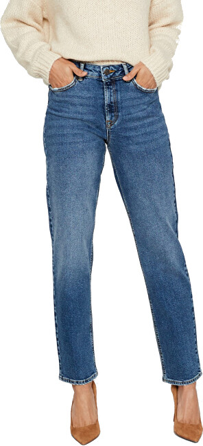 Vero Moda Dámské džíny VMSARA MR RELAXED STR J BA385 NOOS GA CI Medium Blue Denim 3232