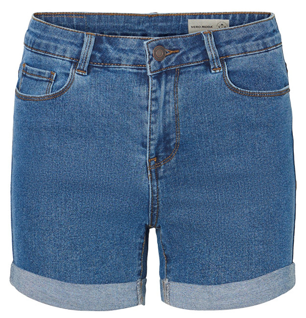 Vero Moda Dámske kraťasy Hot Seven Nw Dnm Fold Shorts Mix Noos Medium Blue Denim XS