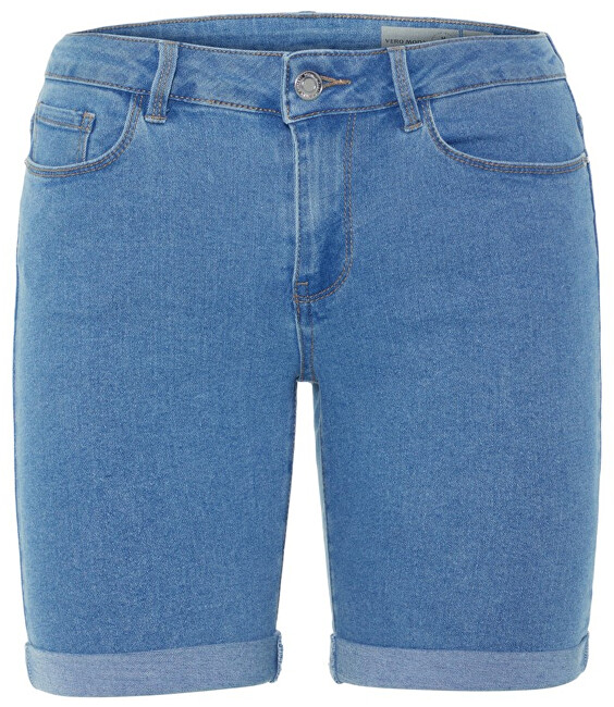 Vero Moda Dámske kraťasy Hot Seven Nw Dnm Long F Shorts Mix Noos Light Blue M