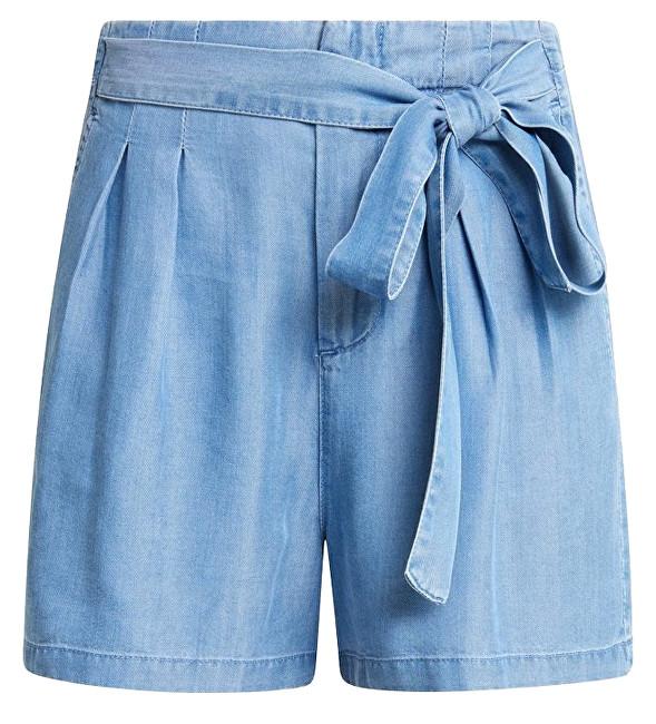 Vero Moda Doamnelor pantaloni scurți Mia HR Loose de vară Long Short cu Light Blue Denim M