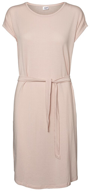 Vero Moda Dámske šaty Ava Plain Ss Knee Dress Vma Sepia Rose XS