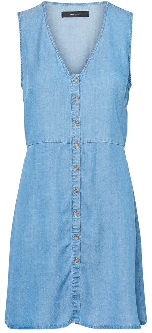 Vero Moda Dámske šaty Coco Mia Sl Short Dress Ga Medium Blue Denim S