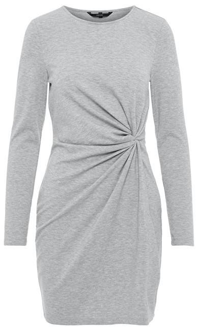 Vero Moda Doamnelor rochie Smia L/S Knot Dress D2-1 Light Grey Melange XS