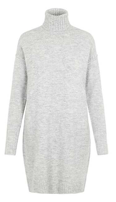 Vero Moda Dámské šaty VMLUCI LS ROLLNECK DRESS Light Grey Melange XL
