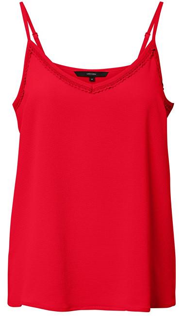 Vero Moda Maiou pentru femeiSasha Lacey Singlet Color Chinese Red XL