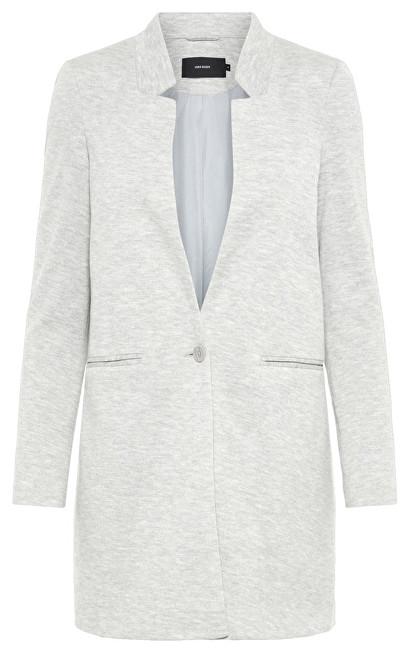 Vero Moda Palton de damăJune W/L Long Blazer Dnm Light Grey Melange 42