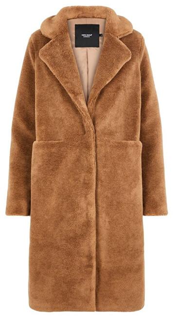 Vero Moda Palton de damă VMHOLLY LUNG TEDDY LUNG KI Brown tutun S