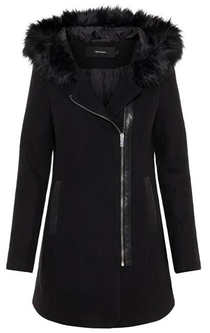 Vero Moda Palton pentru femei VMMACY COLLAR 3/4 Wool Jacket LCS Black M