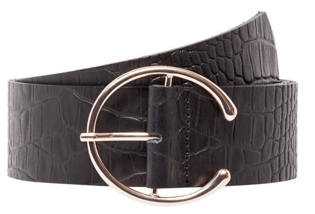 Vero Moda Dámský opasek Palermo Leather Waist Belt Black 75 cm