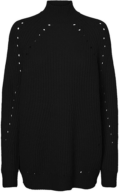 Vero Moda Dámsky sveter Jay Echo Ls High neck Long Blouse Black XS